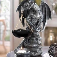 New Shadowy Dragon Scented Oil Tart Warmer Gothic Medieval Home Decor 15261