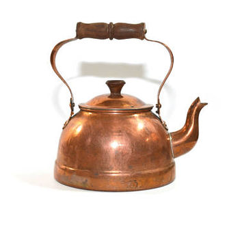Vintage Copper Kettle Copper Tea Kettle Copper Tea Pot Copper Coffee Pot Farmhouse Decor Farmhouse Kettle