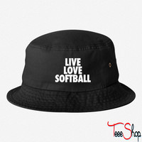 Live Love Softball bucket hat