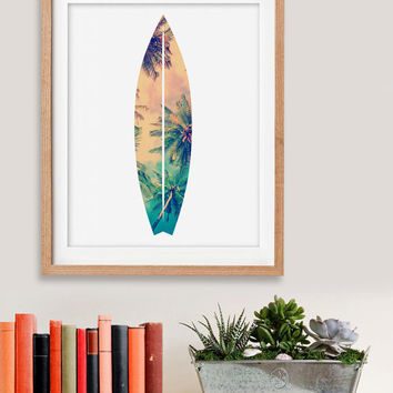 60% OFF SALE Surfboard Print, Surfboard Wall Art, Tropical Print, Wall Decor, Summer Wall Art,  Beach House Decor,Printable Art,Beach Prints