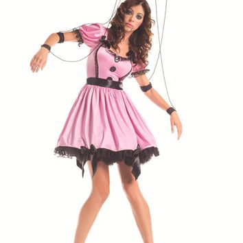 Party King Female Pink Marionette Costume PK281