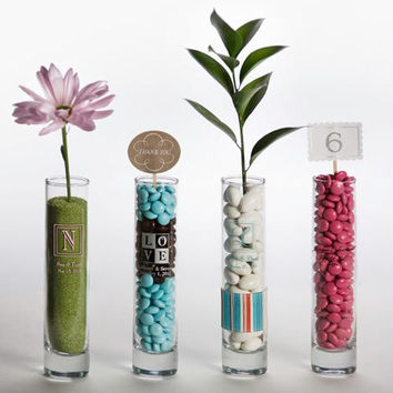 Personalized Bud Vase Wedding Favors