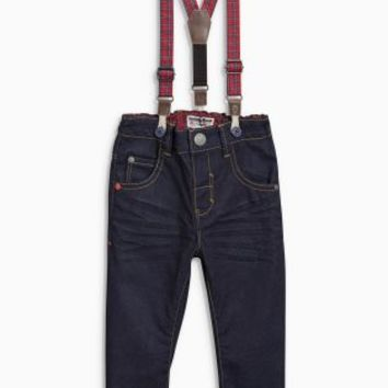Buy Denim Dk Blue Jeans With Tartan Braces (3mths-6yrs) online today at Next: New Zealand