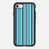 Candy Stripe Blue iPhone 7 Case by Alice Gosling | Casetify
