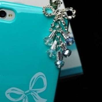 CJB Dust Plug / Earphone Jack Accessory Bow Tail for iPhone 5 All Device with 3.5mm Jack (US Seller)