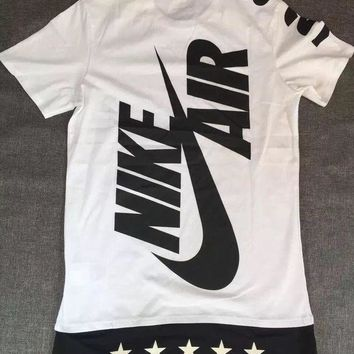Nike Hit Color Logo Printed Sports Casual T Shirt Men And Women