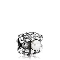 PANDORA Charm - Sterling Silver & Pearl One of a Kind