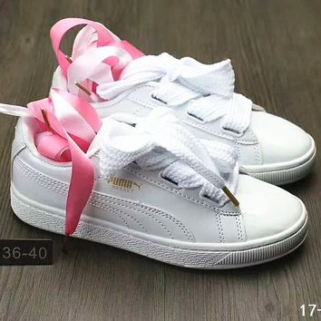 Puma Suede Heart Satin Bow Slide Sandals Shoes sneakers B-DXTY-XZ