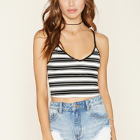 Striped Ribbed Knit Crop Top | Forever 21 - 2000178147