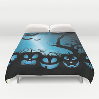 BAT HALLOWEEN Duvet Cover by Acus