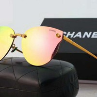 Chanel Trending Women Casual Sun Shades Eyeglasses Glasses Sunglasses Pink G-A-SDYJ
