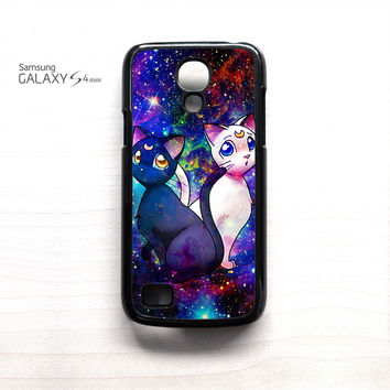 Sailor Moon Luna And Artemis Cat for Samsung Galaxy Mini S3/S4/S5 phone case