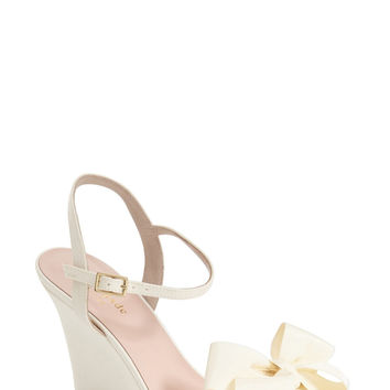 Kate Spade New York Iballa Grosgrain Bow Wedge Sandal (Women) LAVELIQ