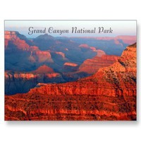 grand canyon red greetings post cards from Zazzle.com