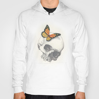 Skull and Butterfly Hoody by haleyivers