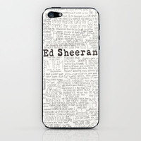 ed sheeran iPhone & iPod Skin by CalmOceans | Society6