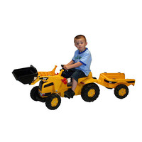Caterpillar Pedal Tractor with Trailer - Kettler International - 5 - 7 Years - FAO Schwarz®