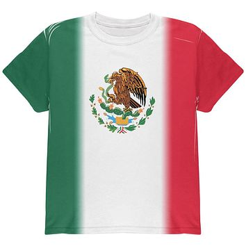 Cinco De Mayo Mexican Flag All Over Youth T Shirt
