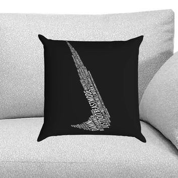 Nike Word Custom Pillow Case for One Side and Two Side