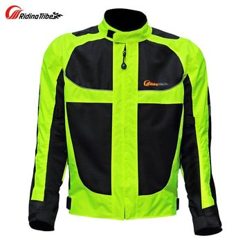 Trendy Summer Motorcycle Men's Woman's Jacket Moto Protective Gear Jacket Men Racing Reflective Oxford Clothing Motorbike Jackets AT_94_13