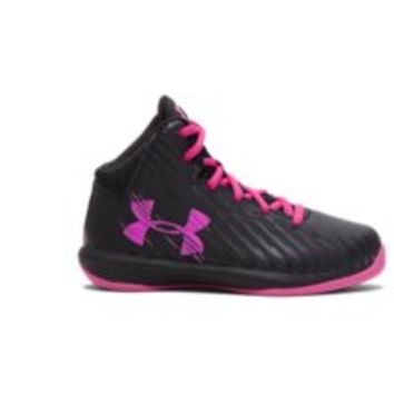 Under Armour Girls' Pre-School UA Jet Basketball Shoes