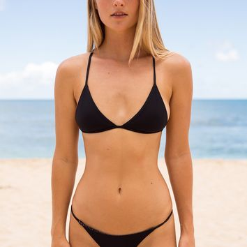 ACACIA Swimwear 2018 Shaka Top in Black Beauty