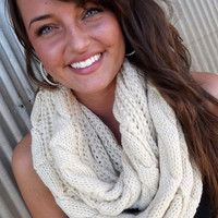 Ivory Knit Scarf | The Rage