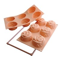 Silikomart Silicone Fancy and Function Multi Cake Pan, Rose | Bloomingdale's