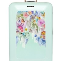 Ted Baker London 'Large Sugar Sweet Florals' Hard Shell Suitcase - Green (32 Inch)