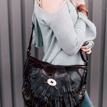 Fringe + Concho Gypsy Leather Purse
