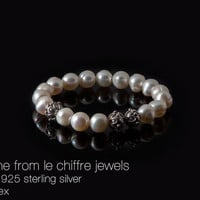 Catherine freshwater pearl silver bracelet