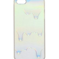 Rainbow Opalescent Oil Holographic iPhone Case