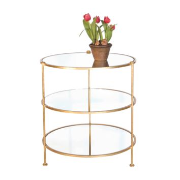 Tiered Gold Side Table by World's Away
