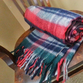 Troy Leisure Blanket Troy Mills Inc. Wool Blend Throw Stadium Picnic Blanket