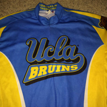 Sale!! Vintage UCLA BRUINS NCAA Bicycle Jersey Rare University of California Los Angeles Football T Shirt