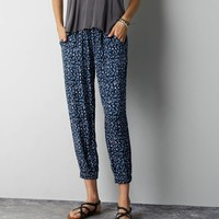 AEO Women's Don't Ask Why Soft Pant (Leopard)