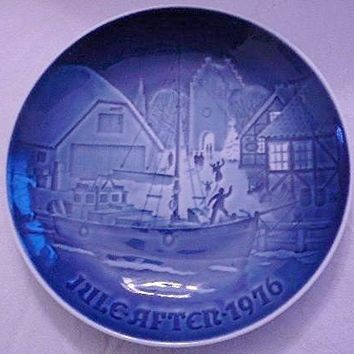 Bing & Grondahl Blue Christmas Plate Jule After 1976