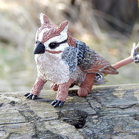 Gryphon figurine, sparrow gryphon, Fantasy Animal Creature, Handmade figure sculpture griffon griffin, gryphon totem, mythical creatures