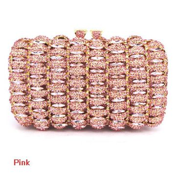 new designer Red cocktail party clutch bags French romantic evening bag women handbags red studded jeweled pochette purse