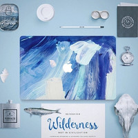 Blue Art Painting Macbook 13 15 Pro Retina Sticker