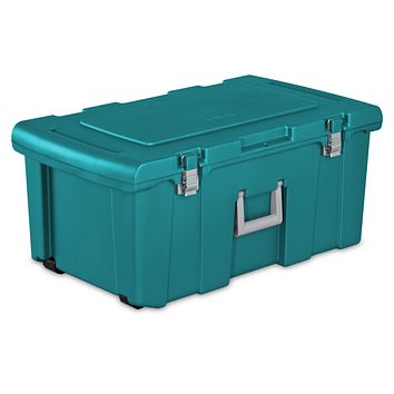 Heavy Duty Durable Portable Wheeled Storage Footlocker Trunk