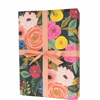RIFLE PAPER CO. ROLL OF 3 JULIET ROSE WRAPPING SHEETS