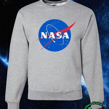 ac spbest NASA Sweater, NASA Logo High Quality Soft Unisex Crew Neck Sweatshirt, Sweater, Pullover Shirt Gift Present