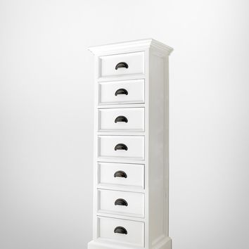 Halifax Storage Tower with drawers White semi-gloss
