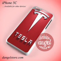 Tesla Logo Phone case for iPhone 5C and another iPhone devices