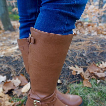 Walk The Line Boots - Cognac