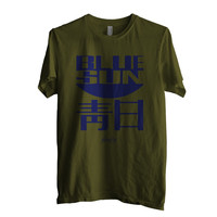 Blue Sun Firefly Men Shirt size S to 2XL Color Army Green