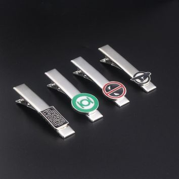 Deadpool Dead pool Taco SG Fashion Jewelry 10pcs/lot Star Wars Green Lantern  Avengers 3 Charms Metal Tie Clip For Men Gift Jewelry s AT_70_6