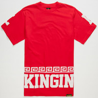 Last Kings Street King Mens T-Shirt Red  In Sizes
