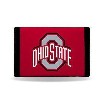 Licensed Ohio State Buckeyes Official NCAA Nylon Trifold Wallet OSU by Rico Industries KO_19_1
